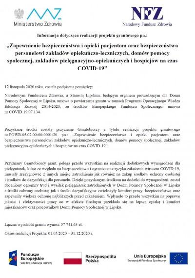 informacja dot. realizacji proj. grantowego